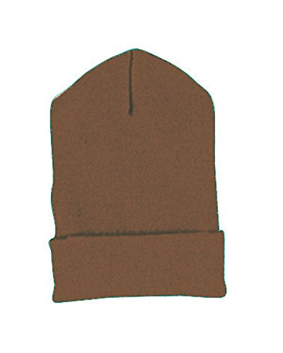 Yupoong Cuffed Knit Cap (1501)- BROWN, OS