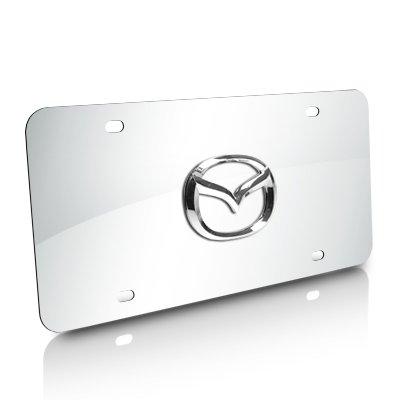 Mazda New Chrome Logo On Stainless Steel Plate