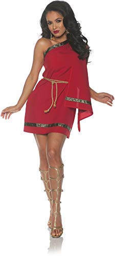 Underwraps Women's Classic Greek Toga Costume-Red, X-Large ()