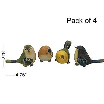 Gemmia Garden Fairy Figurine- Big Birds Figurines Pack of 4