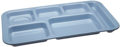 (Carlisle 4398259 Melamine Right-Hand 6-Compartment Divided Tray, 15