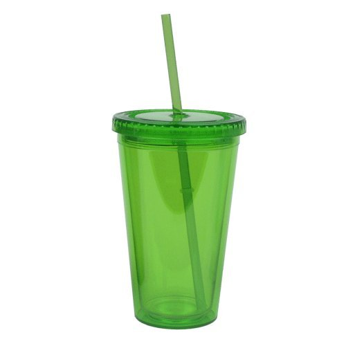 (Eco To Go Cold Drink Tumbler - Double Wall -16oz. Capacity - Eco Green)