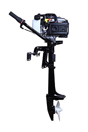 - LEADALLWAY Four Stroke Air-Cooled 4 HP Outboard Motor Boats Fishing Boat Kayak Canoe TM
