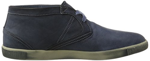 Softinos Tim Washed, Sneaker a Collo Alto Uomo Blu (Navy)