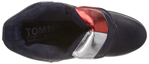Rangers 990 Boot Bottes Tommy Noir Jeans Up Flag black Heeled Big Lace Femme qUHFSw