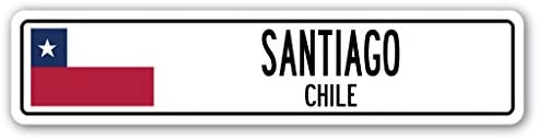 CHILE Street Sign Chilean flag city country road wall gift SANTIAGO