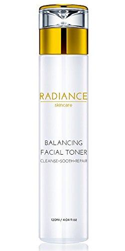 Radiance Skin Care – Balancing Facial Toner with Witch Hazel Hyaluronic Acid 4fl oz Organic Dry Skin Face Mist and Natural Moisturizer
