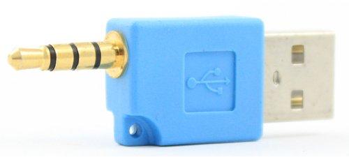 SANOXY Blue - iPod Shuffle 2nd Generation USB Charger Adapter