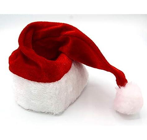Dollar Store Pack de 2 Gorros de Papa Noel para niños. Sombreros Navideños Tradicionales de Santa Claus Rojo y Blanco: Amazon.es: Juguetes y juegos