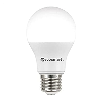 EcoSmart 60W Equivalent Soft White A19 Non Dimmable LED Light Bulb (4-Pack)