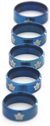 Toronto Maple Leafs Titanium Steel Proposal Fans Ring Size 7-13