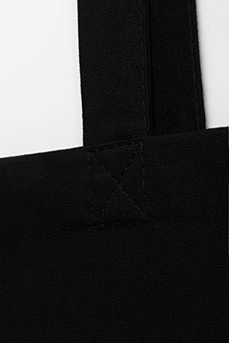 POLHIM Borsa shopper in cotone di qualità 10 pezzi 145 g/m2 dimensioni 38x42 cm manici lunghi 70 cm Nero 100% cotone. Il… 3 spesavip