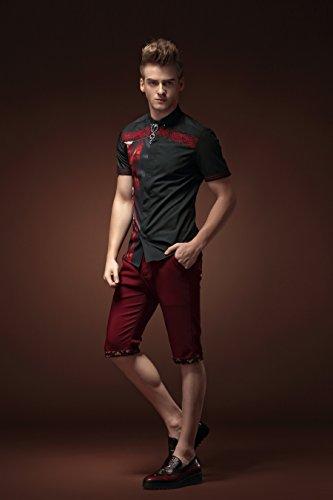 Disegno Casual Qualità Alta Slim Uomo Camicia Fanzhuan Fit Cerimonia dxwOqYdRp