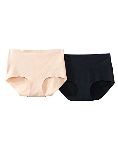 QT Intimates Q-T Intimates 2-Pack Cotton/Spandex Bonded Panty, Assorted, X-Large