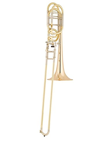 S.E. SHIRES TBQ36YR Q-Series Professional Bass Trombone Lacquer Yellow Brass Bell by S.E. SHIRES