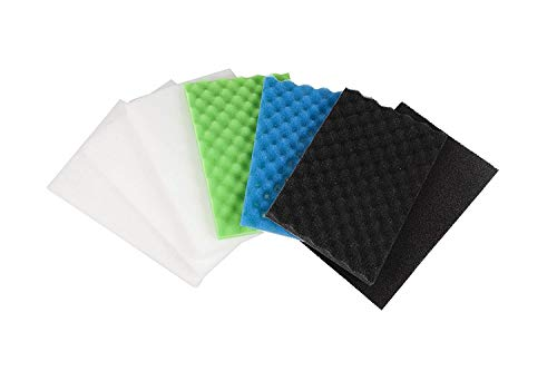 LTWHOME Value Pack of Large DIY Poly Coarse Fine Foam Filter Pads Set for Aquarium Pond(Pack of - Foam Filter Pond