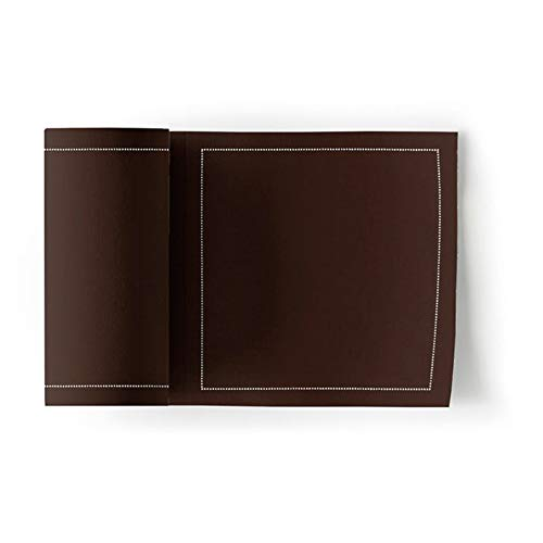 (Cotton Cocktail Napkin - 4.5 x 4.5 in - 50 units per roll - Chocolate Brown)