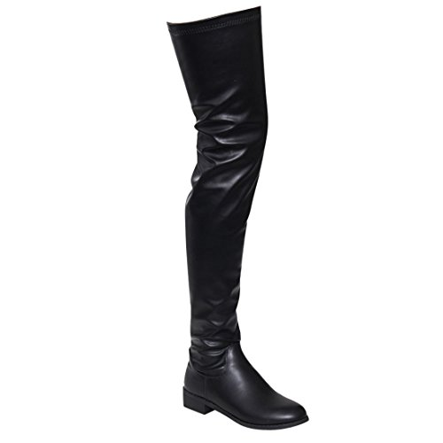 bc960df886b70 We Analyzed 2,144 Reviews To Find THE BEST Thigh High Chunky Heel Boots
