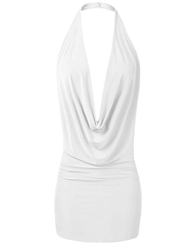 YOKO SHOP Women's Sexy Lightweight Low Cut Halter Top