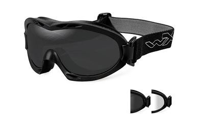 Wiley X Nerve Sunglasses, Smoke Grey/Clear, Matte - X Zero Sunglasses