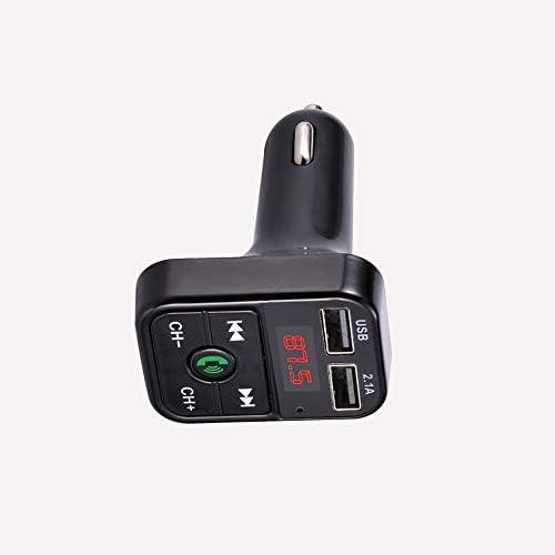 ankunlunbai Kit de Voiture Transmetteur FM USB Adaptateur Radio Chargeur sans Fil Lecteur MP3 120 * 90 * 40mm, Noir