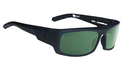 Spy Optic Admiral Polarized Wrap Sunglasses, 62 mm (Soft Matte - Sunglasses Spy New