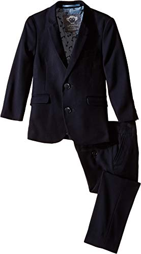 Appaman Kids Baby Boy's Two Piece Lined Classic Mod Suit (Toddler/Little Kids/Big Kids) Navy Blue 16]()