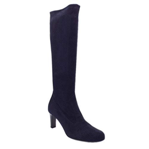 Long Suede Boot Navy On Pull 93237 Peter Kaiser Stretch Levke HxFqvp