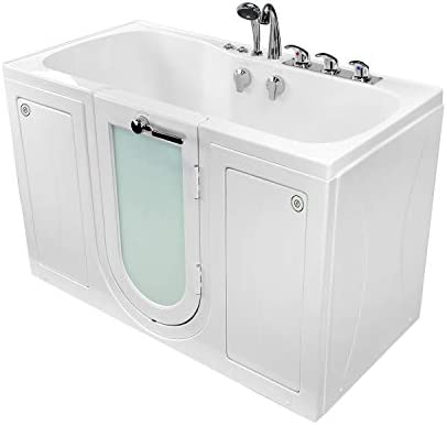 Ella s Bubbles O2SA3260AMH-HB-R Tub4Two Air Massage and Microbubble Acrylic Walk-in Tub with Heated Seat, Right Outward Swing Door, Fast Fill Faucet, 2 Dual Drain 32 x 60 x 42 White