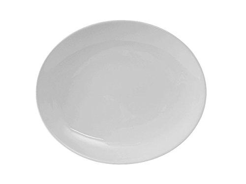 "Tuxton VPH-083 Vitrified China Florence Platter, Coupe, 8-3/8"" x 6-3/4"", Porcelain White (Pack of 36),"