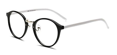 8f911a00e774 Embryform Tendance des sauvages lunettes monture ronde Noir blanc ...