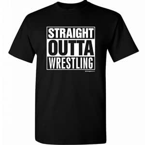 Wrestling Straight Outta Wrestling Black T-Shirt Adult X