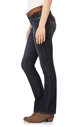 WallFlower Womens Juniors Belted Low-Rise Legendary Slim Bootcut Jeans in Shay, 0 by WallFlower (Image #3)