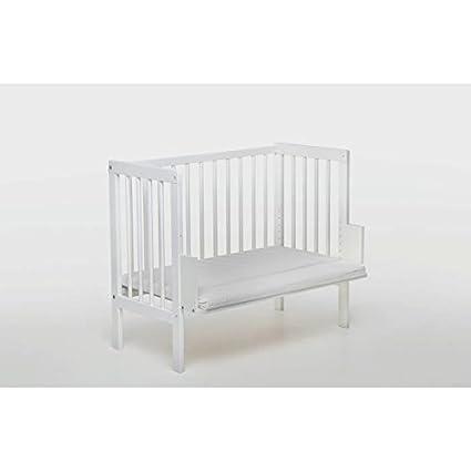 Cuna colecho-adosada-de bebe + colchón +funda+ ruedas cuna