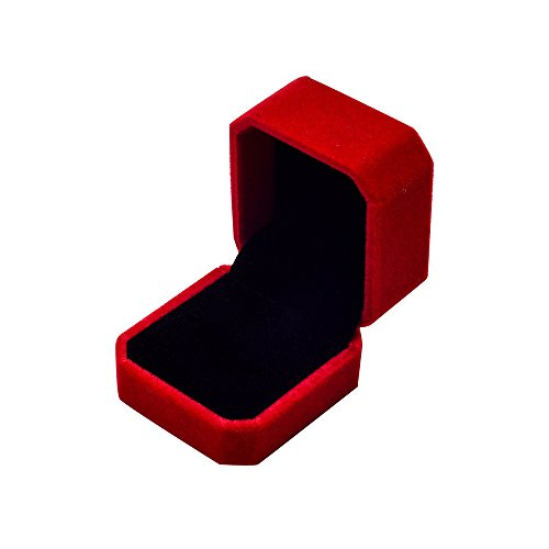 (Wgg Velvet Ring Jewelry Storage Box Gift Box, Ring Earrings Jewelry Counter Display Props (Red))