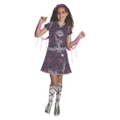 Monster High Halloween Costume Spectra Vondergeist Power Ghouls Medium (Monster High Toralei Halloween Costume)