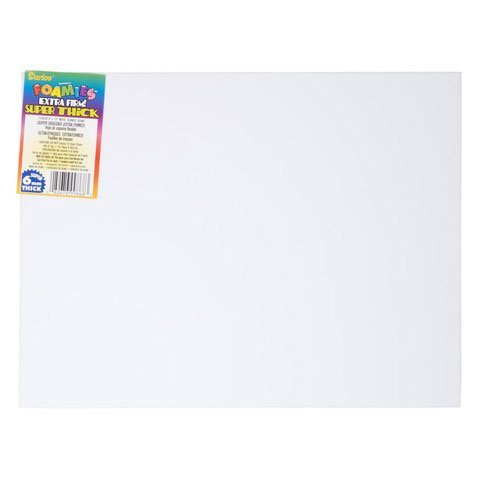 Darice Bulk Buy DIY Foamies Extra Thick Foam Sheet White 6mm Thick 9 x 12 inches (10-Pack) 1199-20]()