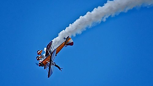 Aerobatic Biplane - Home Comforts LAMINATED POSTER Wing Walking Wing Walker Aerobatics Bi-plane Stunt Poster 24x16 Adhesive Decal