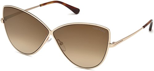 (Tom Ford FT0569 28G Shiny Rose Gold Elise Cats Eyes Sunglasses Lens Category 2)