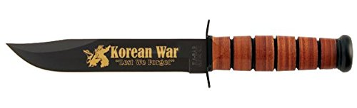 Ka-Bar Commemorative Knife Korea 50th Anniversary, U.S.M.C. with Leather Sheath
