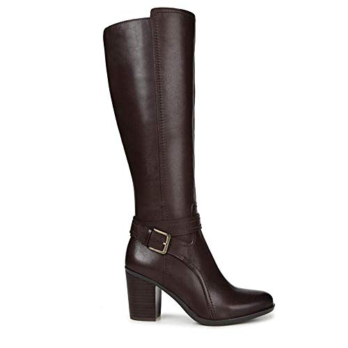 Naturalizer Women's Kelsey Wide Calf Chocolate Leather 8 M ()