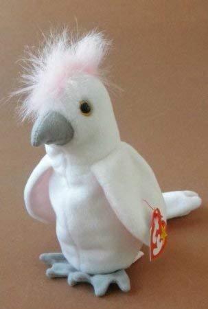 Kimougha TY Beanie Babies Kuku Cockatoo Bird Plush Toy Stuffed Animal