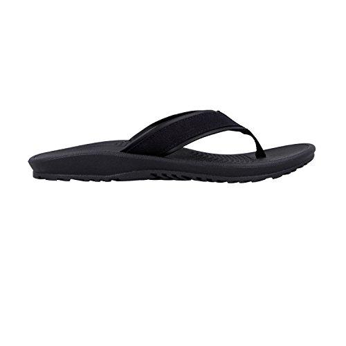 Okabashi Menns Lerret Indigo Klassiske Flip Flop Sandal Sko Svart