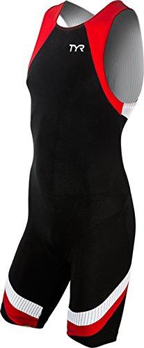 TYR Sport Men's Sport Carbon Zipper Back Short John Skin Suit (Black, - Suit Itu Tri