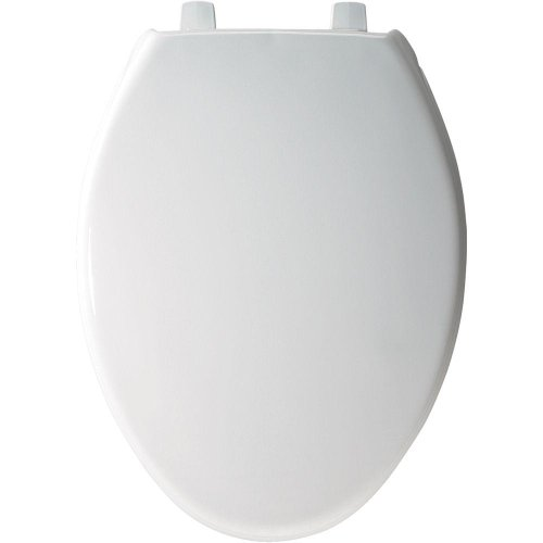 Bemis 7800TDG000 Plastic Toilet Seat,  Elongated, White (Seat Plastic Toilet)