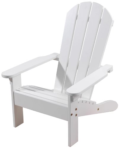 White Kids Furnitures - KidKraft Wooden Adirondack Children's Outdoor Chair, Weather-Resistant - White