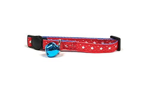 (Midlee 4th of July Stars Cat Collar with Safety Buckle)