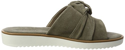 Mit Stone Mules Mujer Schleife Pantolette Bianco Gris 5nBw7q6S