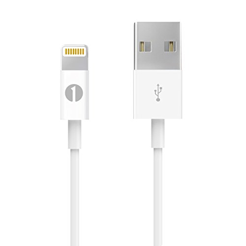 [Apple MFI Certified] 1byone Lightning to USB Cable 3.3ft (1 Meter) for iPhone 7 7 Plus 6s 6 Plus 5s SE 5c 5, iPad mini, iPad Air, iPad Pro, iPod touch 6th Gen / nano 7th Gen, White