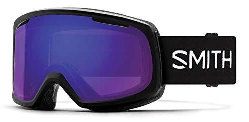 Smith Optics Riot Women's Snow Goggles - Black/Chromapop Everyday Violet Mirror/One Size (Riot Ski)